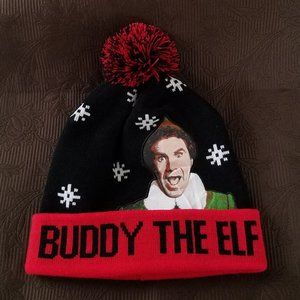 Other - NWOT BUDDY THE ELF MEN'S BLACK RED WHITE BEANIE